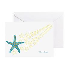 Shooting Starfish Greeting Card