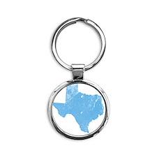 _0042_texas Round Keychain