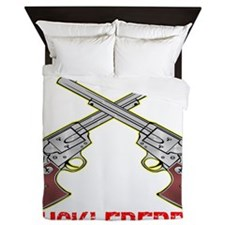 blk_Im_You_Huckleberry_6_Guns Queen Duvet