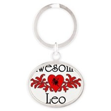 Awesome Leo Oval Keychain