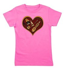 heart patch for cafe press shadow copy Girl's Tee