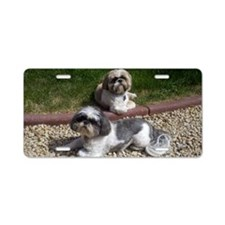 Puppies_outside Aluminum License Plate