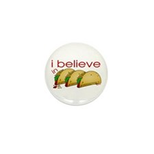 I believe in Tacos Mini Button (10 pack)