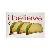 I believe in Tacos Rectangle Magnet (10 pack)