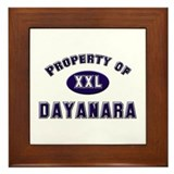 Property of dayanara Framed Tile