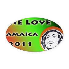 Bob Marley Tour Oval Car Magnet