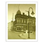 Antiqued Town Small Poster