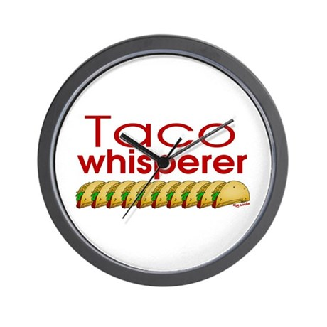 Taco Whisperer Wall Clock