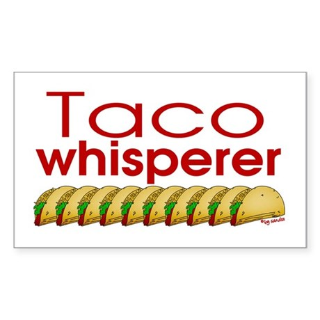 Taco Whisperer Rectangle Sticker