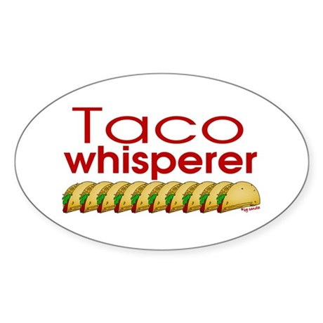 Taco Whisperer Oval Sticker