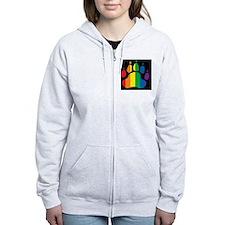 rainbow paw BLACK mCap2 Zip Hoodie