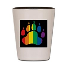 rainbow paw BLACK Shot Glass