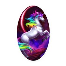 4.5x6.5_unicorndream Oval Car Magnet