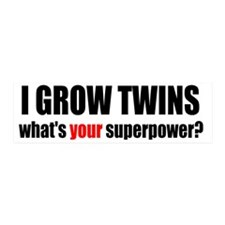 grow twins bumper Wall Sticker