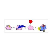 pigs_fly_horiz Car Magnet 10 x 3