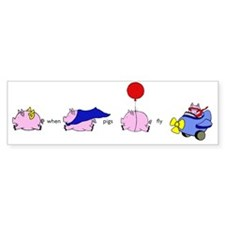 pigs_fly_horiz Bumper Sticker