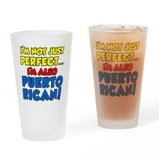 Not Just Perfect Puerto Rican Drinking Glass