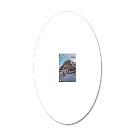Switzerland - Eiger Nordwand 20x12 Oval Wall Decal