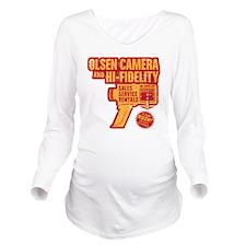 Olsen-Camera Long Sleeve Maternity T-Shirt