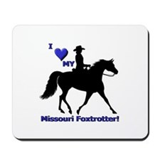Unique Heart horses Mousepad