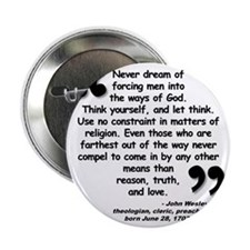 "Wesley Religion Quote 2.25"" Button"