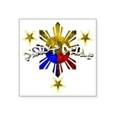 "pinoy pride Square Sticker 3"" x 3"""