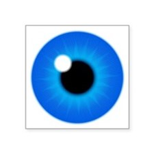 "Blue Iris Eye Pupil Square Sticker 3"" x 3"""