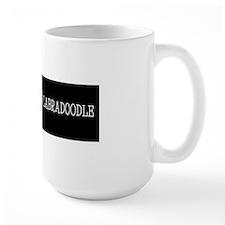 I Love My Labradoodle Bumper BlackBG Mug