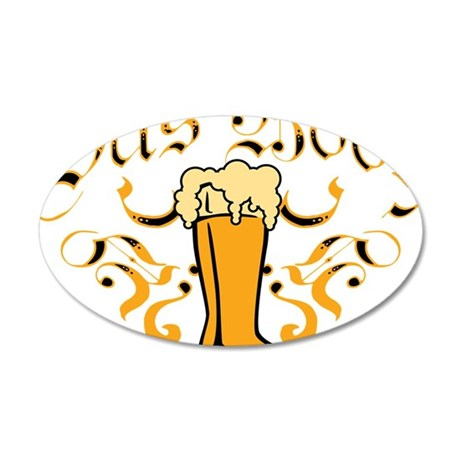 Das Boot Of Beer 35x21 Oval Wall Decal