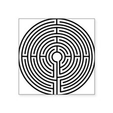 "medieval labyrinth symbol i Square Sticker 3"" x 3"""