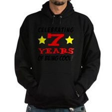 Celebrating 7 Year Old Birthday Hoodie