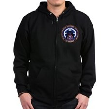 Panther v1_1st-505th - White Zip Hoodie
