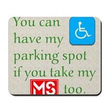 10 x 10 HandicapParking Mousepad