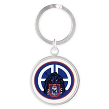 Panther v1_2nd-505th-White Round Keychain