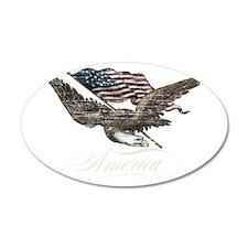 Eagle Flag-america-for dark  Wall Decal