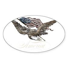Eagle Flag-america-for dark back-01 Decal