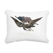 Eagle Flag-america-for d Rectangular Canvas Pillow