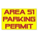 """Area 51 Parking Permit"" Rectangle Decal"