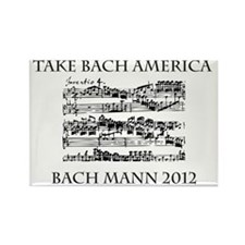 Bach Back-4 Rectangle Magnet
