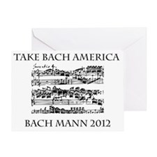 Bach Back-4 Greeting Card
