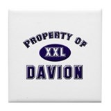 Property of davion Tile Coaster