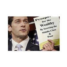 Paul Ryan Screw Working Class Bud Rectangle Magnet