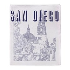 SanDiego_10x10_CaliforniaTower_Blue Throw Blanket