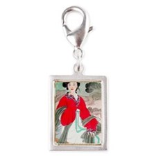 CHINA84 Silver Portrait Charm