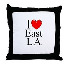 """I Love East L.A."" Throw Pillow"
