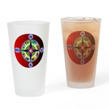wcs compass 2 Drinking Glass