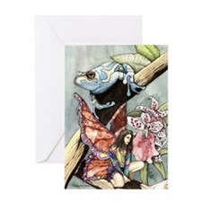 frogflowersfairy copy Greeting Card