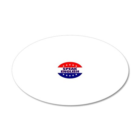 OvalStickerSpeakEnglish 20x12 Oval Wall Decal