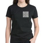 Gray Owls Design Women's Dark T-Shirt