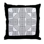 Gray Owls Design Throw Pillow